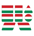 buttons with flag of Hungary vector image