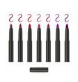 colorful lip crayon or eyeliner vector image vector image