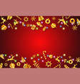 concept of christmas festival and new year vector image vector image