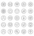 contact and communication thin line web icons set vector image vector image