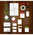Corporate identity template set Business vector image