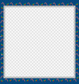 cute christmas or new year square frame with candy vector image vector image