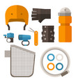 cycling accessories set vector image