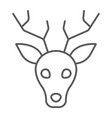deer thin line icon animal and zoo stag sign vector image vector image