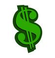 dollar sign green vector image vector image