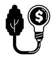 economy money bulb icon simple style vector image