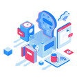 education and knowledge isometric vector image