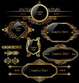 Elegant gold and black labels vector | Price: 3 Credits (USD $3)