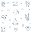 Flat hand draw christmas object of doodle vector image
