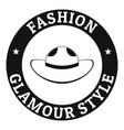 glamour hat logo simple black style vector image vector image