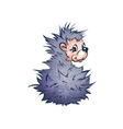 hadgehog in cartoon style vector image