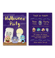 halloween party invitation with zombie heads vector image vector image