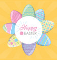 happy easter eggs decoration vector image