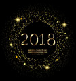 happy new year background with glowing lights vector image vector image