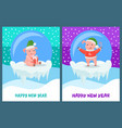 happy new year pig with candy stick smiling vector image vector image