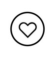 heart line icon on a white background vector image vector image
