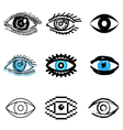 icons eye vector image