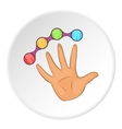 Knuckles with hand icon cartoon style vector image vector image