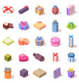large set different gift boxes vector image vector image