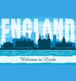 leeds united kingdom city skyline silhouette vector image vector image