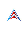letter a pyramid geometry company logo vector image vector image