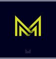 m letter monogram lines symbol vector image vector image