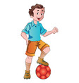 man playing soccer vector image vector image