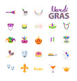 mardi gras set of carnival decorative elements vector image vector image