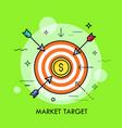 market goal achievement concept vector image vector image