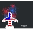 modern memorial day or 4 july vector image vector image