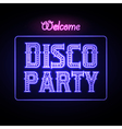 Neon sign Disco party night club vector image vector image