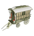 old carriage on white background vector image vector image