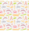 pattern of sea animals vector image vector image