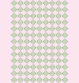 pink and green rhombus texture vector image