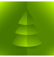 pop up 3d paper christmas tree vector image vector image