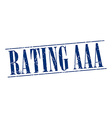 rating aaa blue grunge vintage stamp isolated on vector image vector image