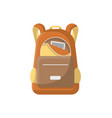 school haversack isolated icon vector image vector image