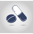 Set of pills vector image vector image