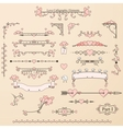 Set of vintage calligraphic elements vector image vector image