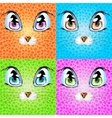 Set with colorful cats vector image
