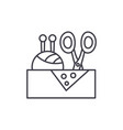 sewing business line icon concept sewing business vector image vector image