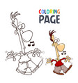 Singing people cartoon coloring page
