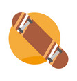 skate board emblem extreme sport graphic vector image vector image