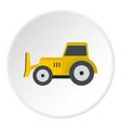 skid steer loader icon circle vector image vector image