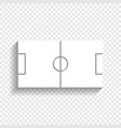 soccer field white icon with soft shadow vector image