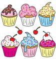 sprinkle cupcakes vector image vector image