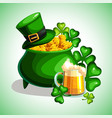 st patrick s day cartoon poster vector image vector image