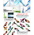straight lines poster backgrounds set vector image vector image