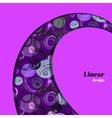 Swirl border design vector image