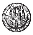 the seal for the city of chester england vintage vector image vector image